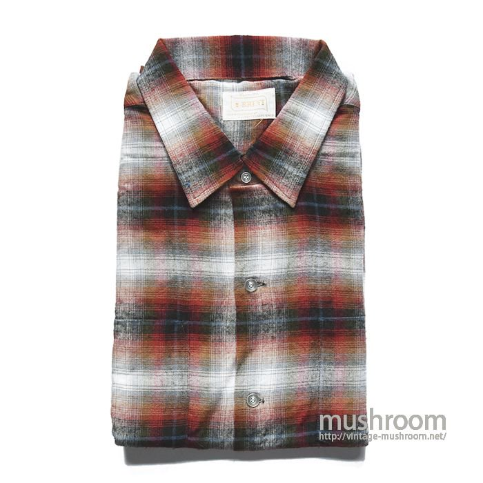BRENT SHADOW PLAID RAYON SHIRT( XL/DEADSTOCK )