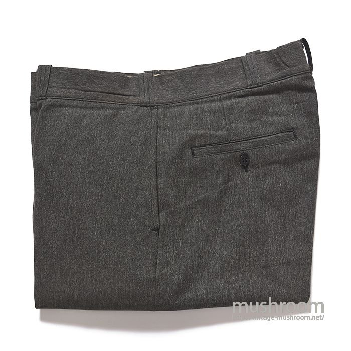 UNKNOWN BLACK CHAMBRAY WORK TROUSER( DEADSTOCK )