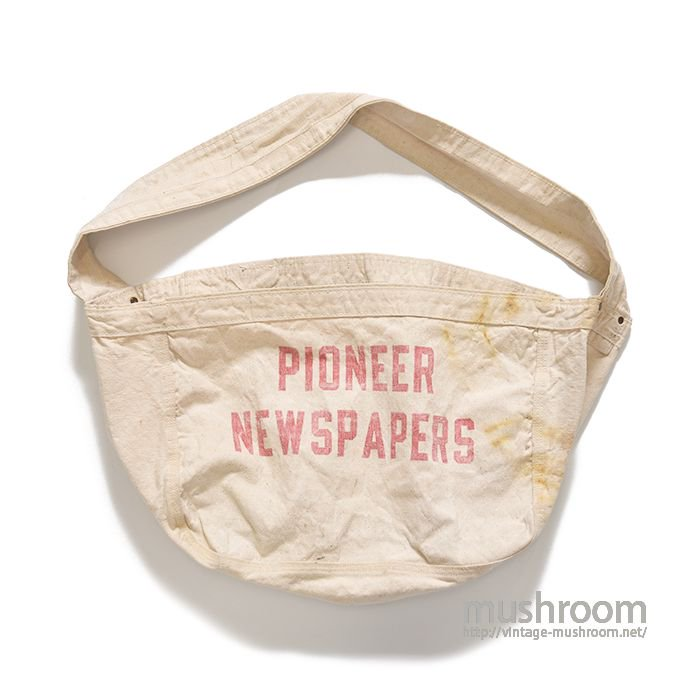 OLD PIONEER NEWSPAPER CANVAS BAG