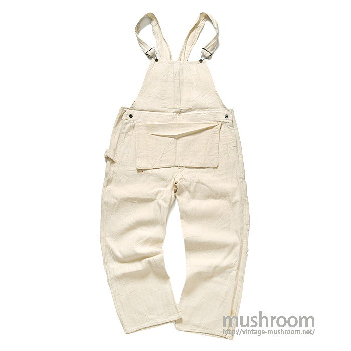LEADER WHITE HBT OVERALLS(ONE-WASHED/MINT)