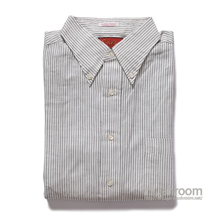 OLD STRIPE BD OXFORD COTTON SHIRT(16-3/DEADSTOCK)