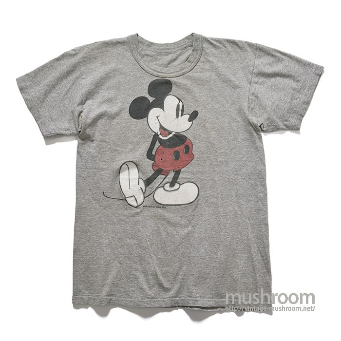OLD MICKY MOUSE PRINT T-SHIRT