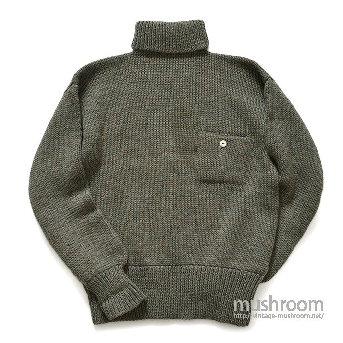 OLD TURTLE-NECK SWEATER WITH POCKET( MINT )