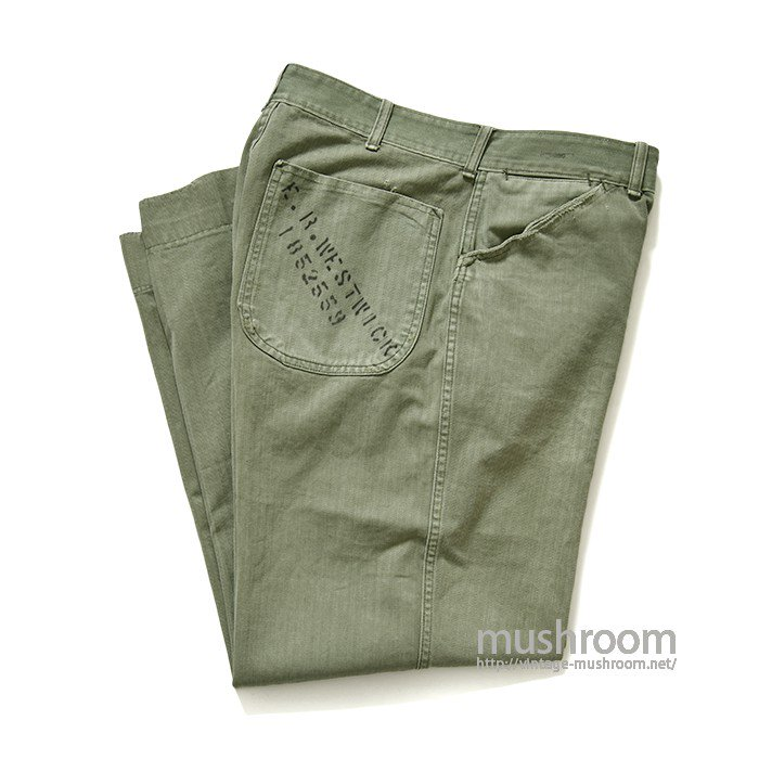 USMC P-41 HBT TROUSERS WITH STENCIL