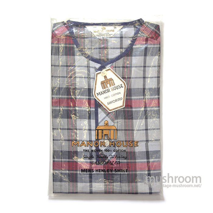 MANOH HOUSE PLAID MADRAS COTTON S/S BD SHIRT( M/DEADSTOCK )