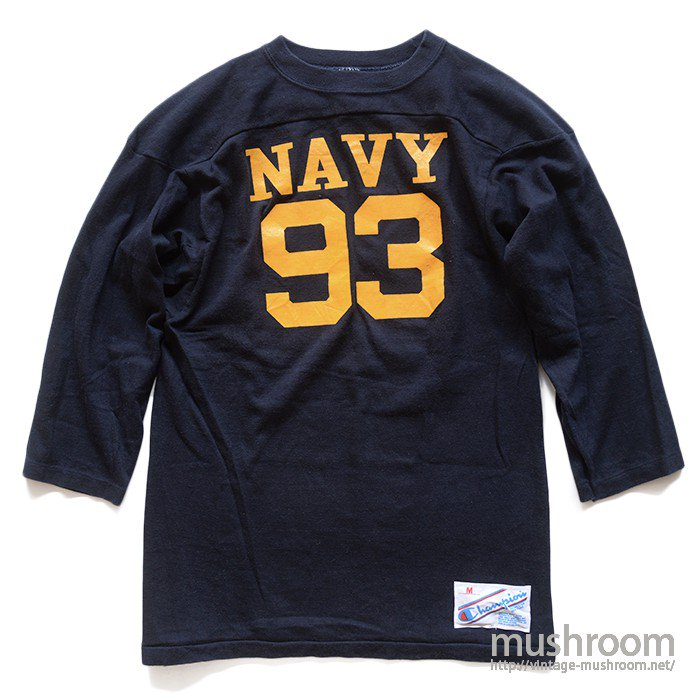 CHAMPION NAVY FOOTBALL T-SHIRT( M/MINT )