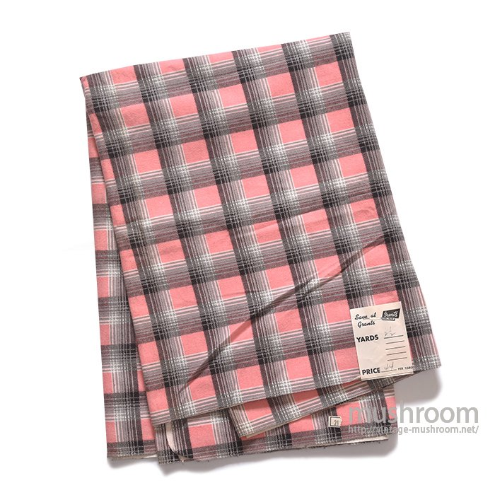 GRANTS PLAID PRINT COTTON FABRIC( MINT )