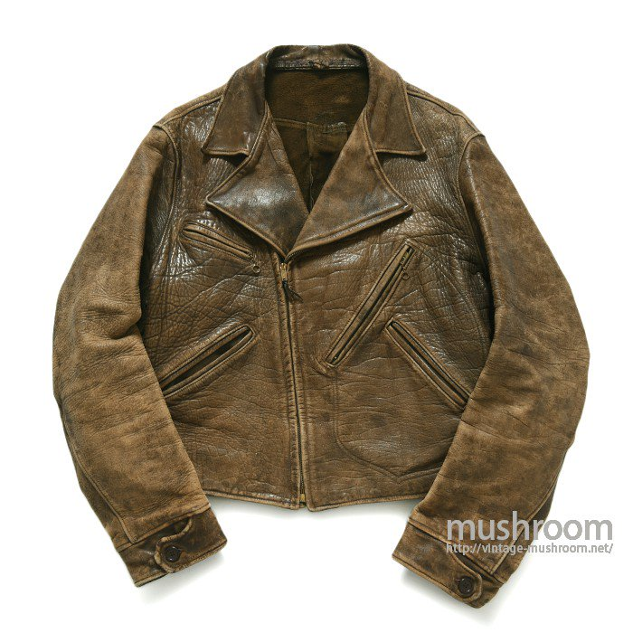 UNKNOWN BROWN LEATHER SPORTS JACKET