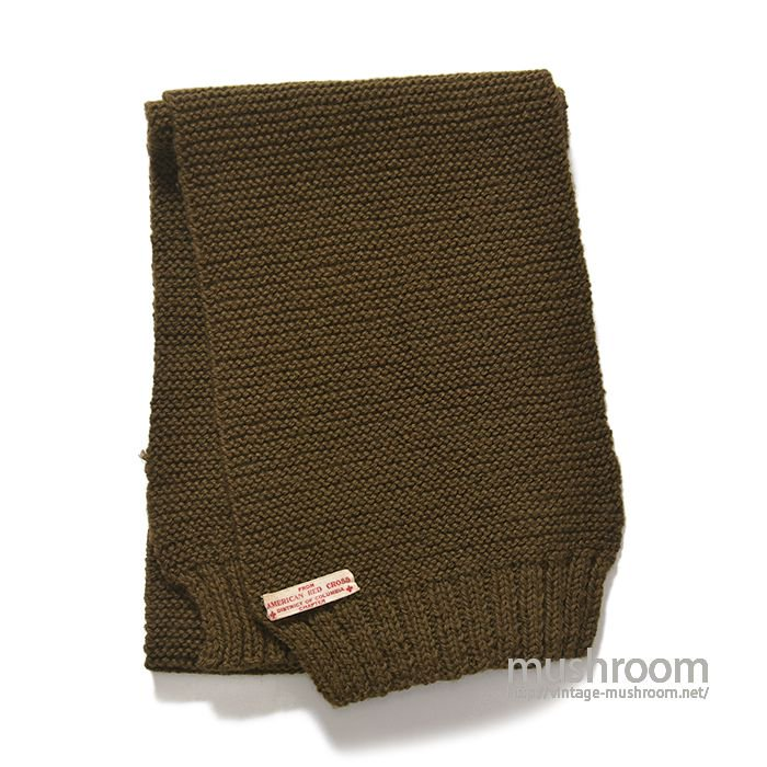 WW2 AMERICAN RED CROSS KNIT MUFFLER(DEADSTOCK)