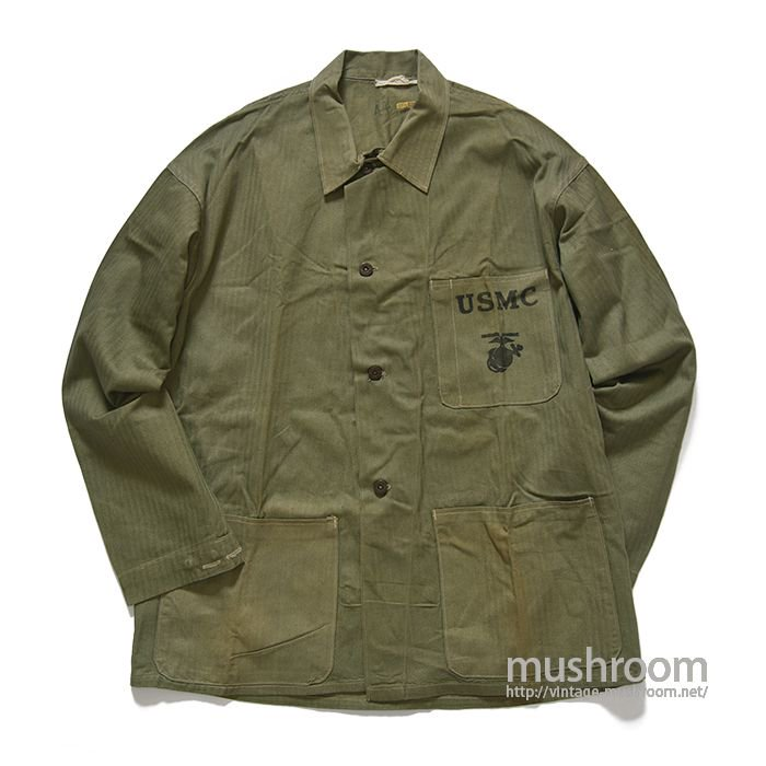 USMC P-41 TWO-TONE HBT UTILITY JACKET(44/ALMOST DEADSTOCK)