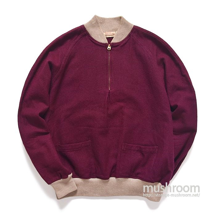 WILSON HALF ZIP WOOL SWEAT SHIRT