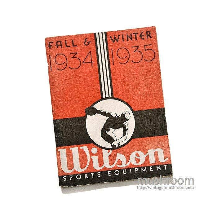 WILSON FALL&WINTER  ATHLETIC CATALOG(1934-35)