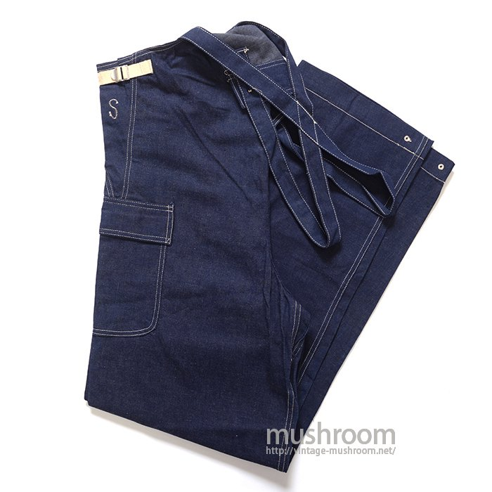 U.S.NAVY DUNGAREE DENIM OVERALLS( S/MINT )