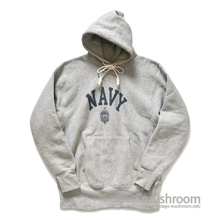 CHAMPION NAVY REVERSE WEAVE HOODY(L/ONE COLOR TAG)