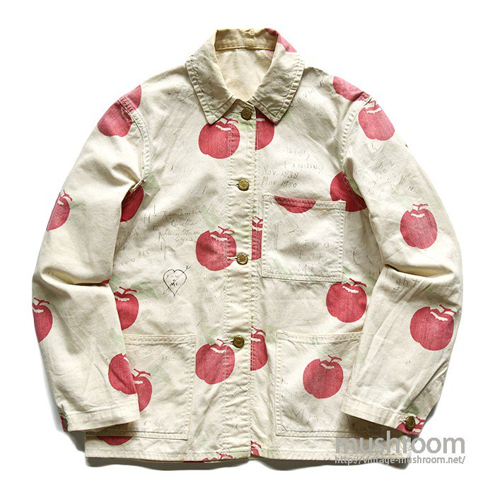 DUBBLE WARE APPLE PRINTED COTTON COVERALL