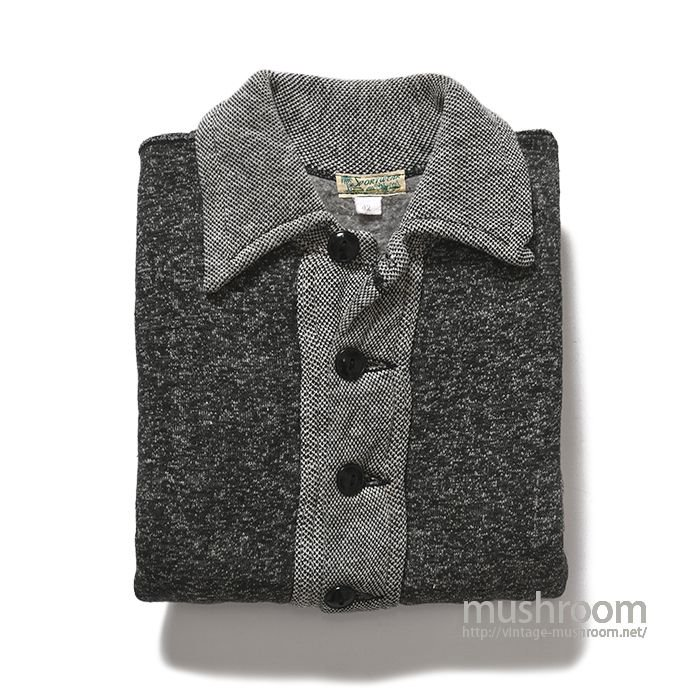 SPORTSWEAR SALT&PEPPER SWEAT CARDIGAN( 42/ONE-WASHED )