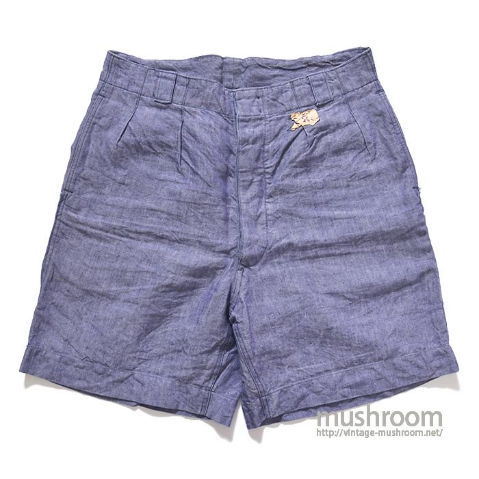 FRENCH NAVY LINEN SHORTS( 3/MINT )