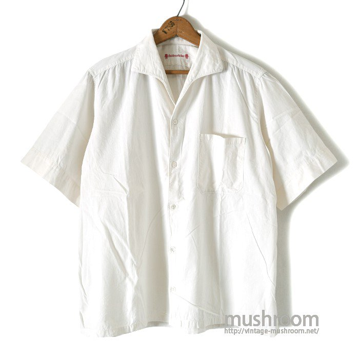 SEIDENSTICKER S/S WHITE COTTON BOX SHIRT