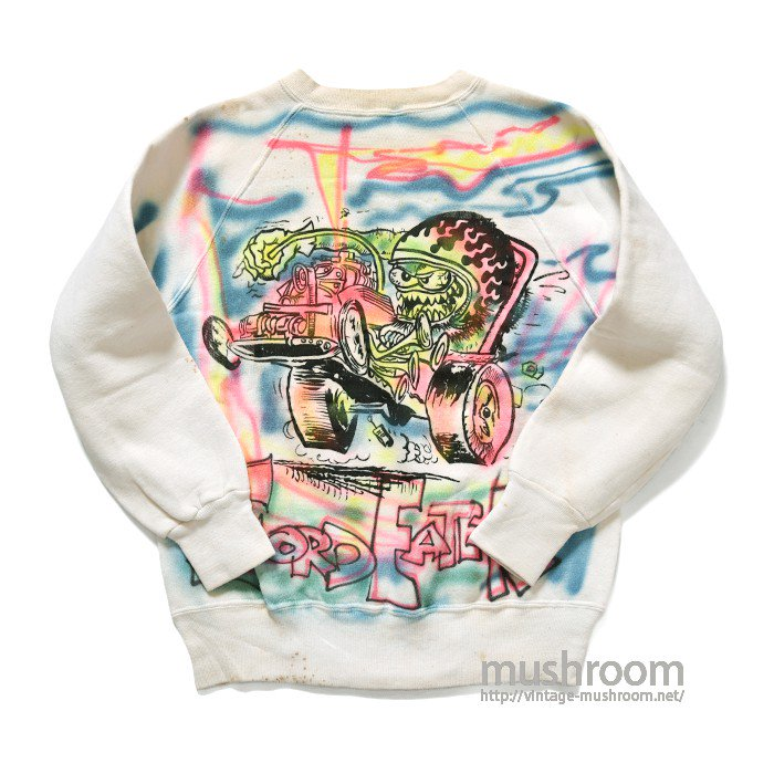 SPRINGFOOT AIR BRUSH-PRINTED SWEAT SHIRT