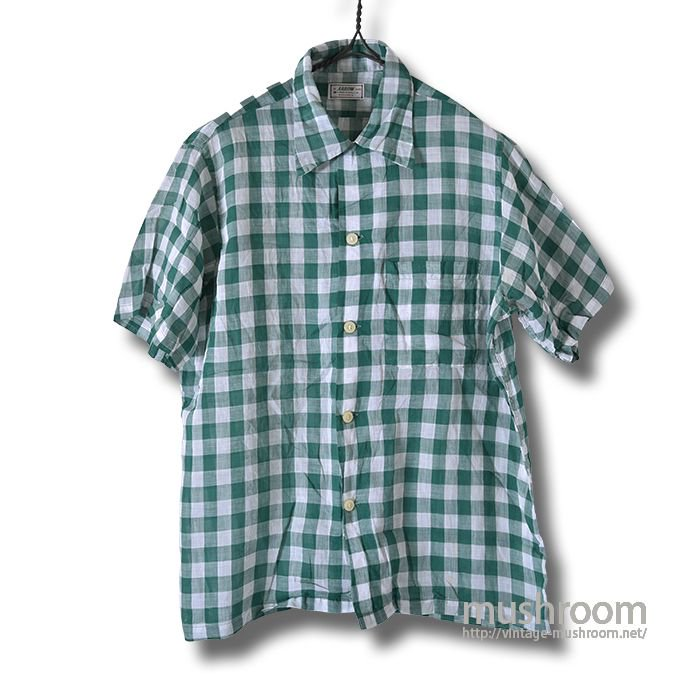 ARROW PLAID S/S BD SHIRT( M/MINT )