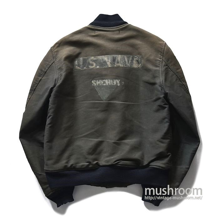 U.S.NAVY DECK JACKET WITH STENCIL