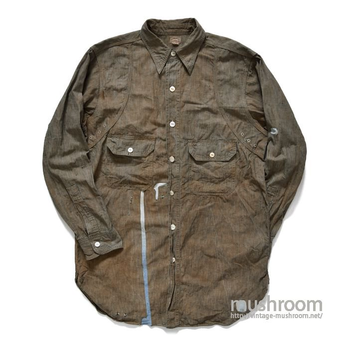 COMPASS BROWN CHAMBRAY WORK SHIRT