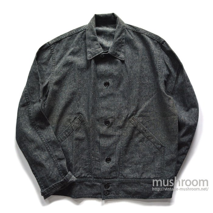 UNKNOWN BLACK CHAMBRAY WORK JACKET( MINT )