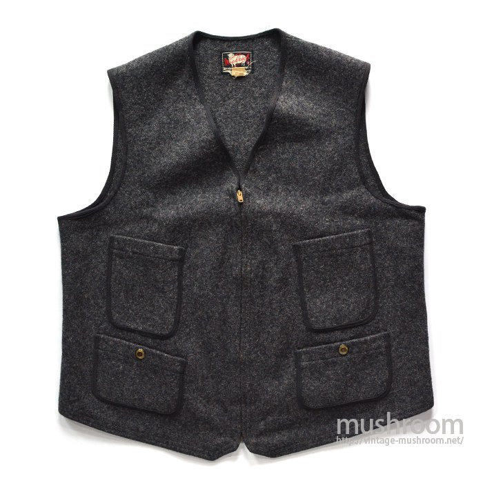 WOOLRICH FOUR POCKET WOOL VEST(42/MINT)