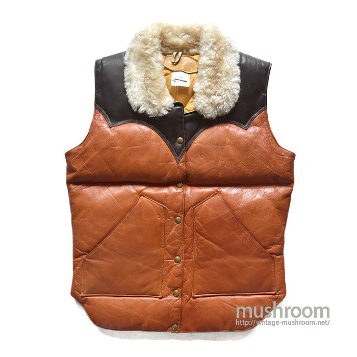 ROCKY MOUNTAIN LEATHER DOWN VEST( ALMOST DEADSTOCK )