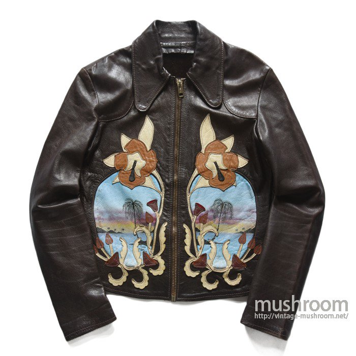 "EAST WEST""COCO ROAD"" CUSTOM LEATHER JACKET(42/MINT)"
