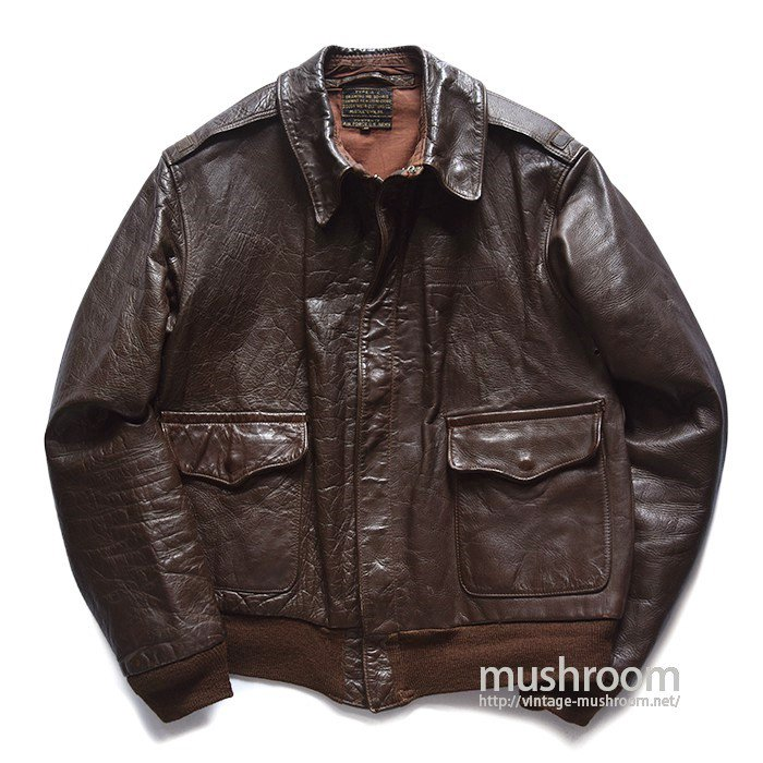 USAAF A-2 LEATHER FLIGHT JACKET(38/MINT)