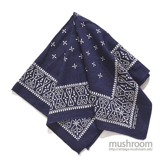 OLD COTTON NAVY CROSS BANDANA( DEADSTOCK )