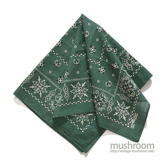 ELEPHANT BRAND GREEN COLOR BANDANA(DEADSTOCK)