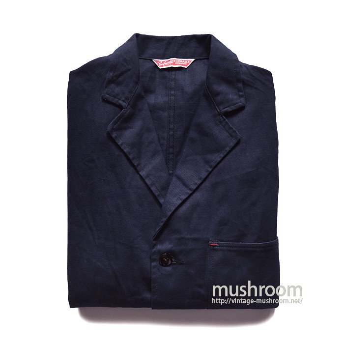 CARHARTT NAVY COTTON WORK JACKET( 38/DEADSTOCK )