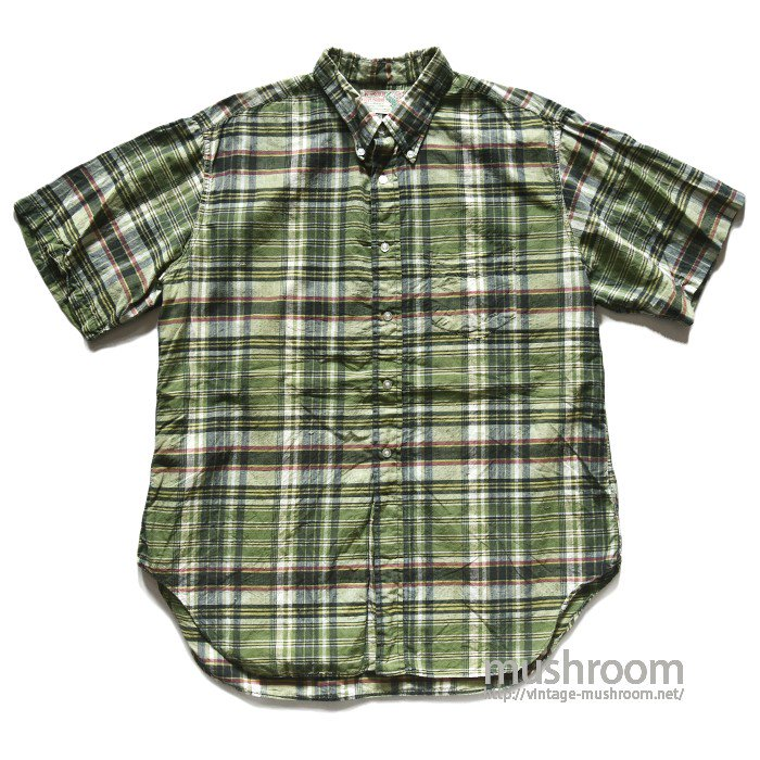 MCGREGOR MADRAS PLAID COTTON S/S BD SHIRT