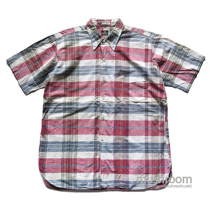 BLAIR HOUSE MADRAS PLAID COTTON S/S BD SHIRT