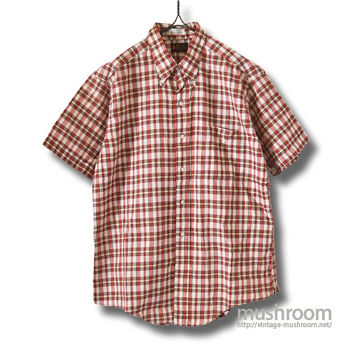 OLD MADRAS PLAID COTTON S/S BD SHIRT(L/MINT)