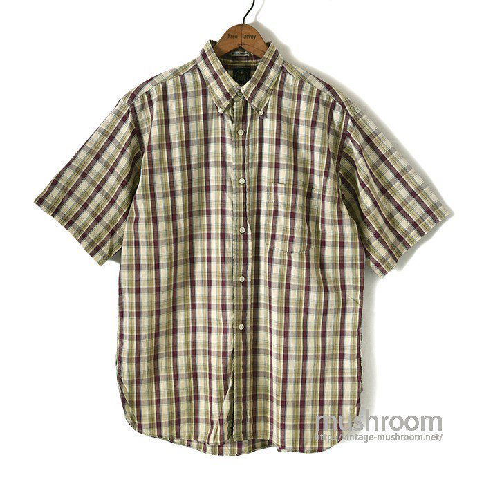 VAUGHN MADRAS PLAID COTTON S/S BD SHIRT