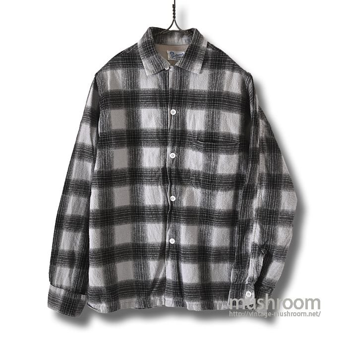 SPORTSWEAR PLAID PRINT FLANNEL BOX SHIRT