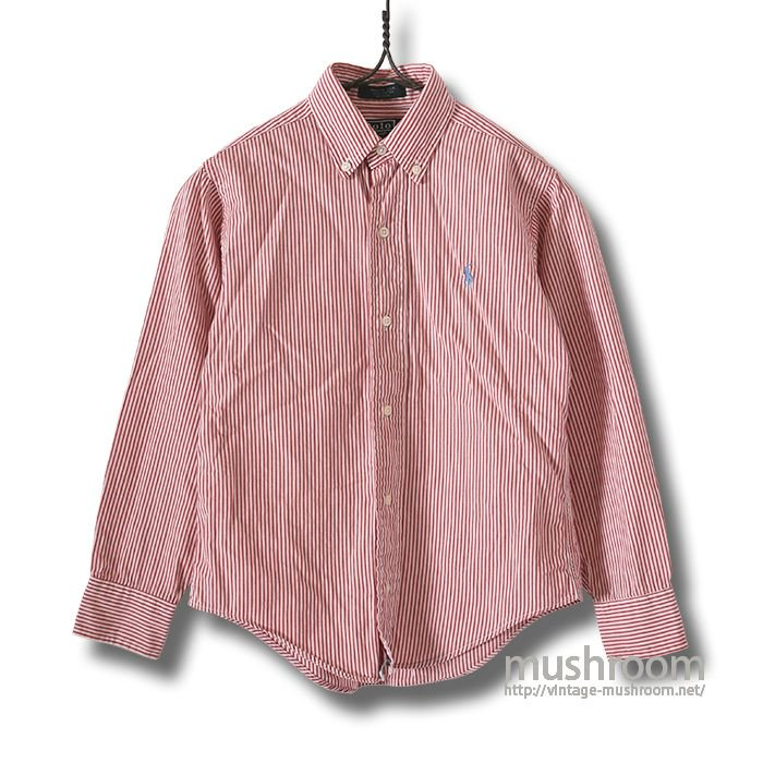 RALPH LAUREN STRIPE COTTON S/S BD SHIRT(KID'S)