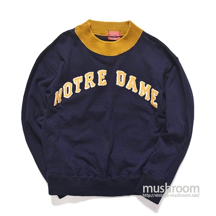 NOTRE DAME TWO TONE WOOL SWEAT SHIRT