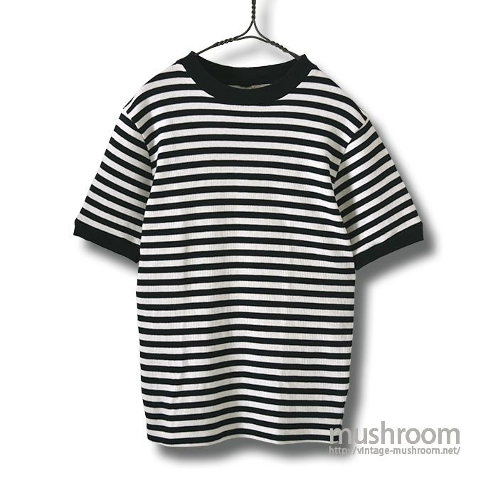 OLD BLACK&WHITE BORDER STRIPE T-SHIRT