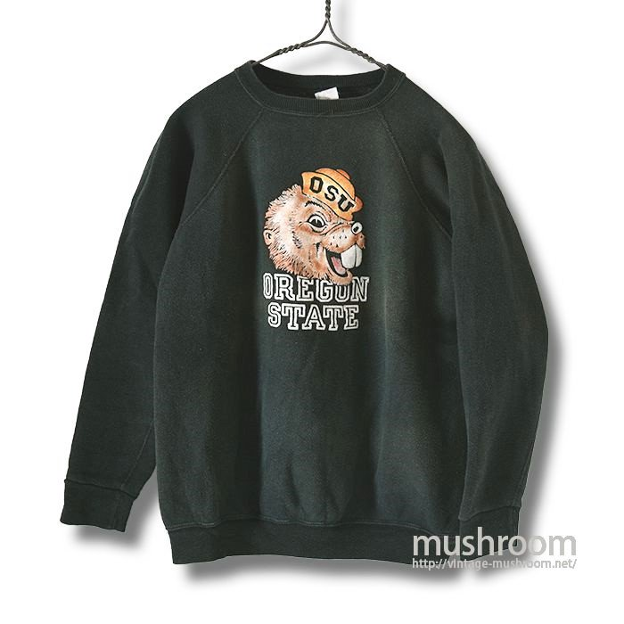 OLD COLLEGE FLOCK PRINT SWEAT SHIRT
