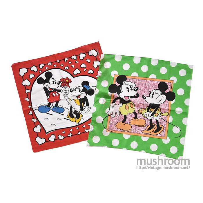 OLD MICKY&MINNIE 2BANDANA( DEADSTOCK )