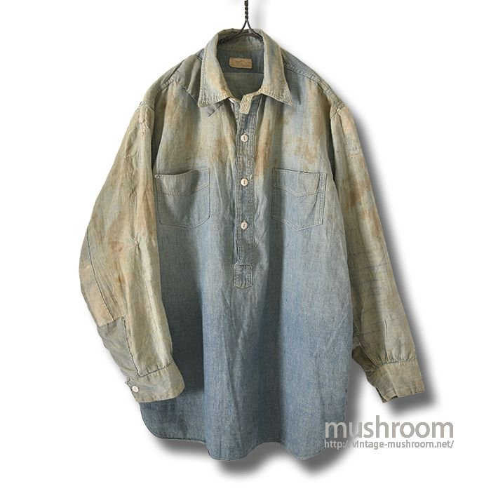 OLD CHAMBRAY WORK SHIRT WITH CHINSTRAP