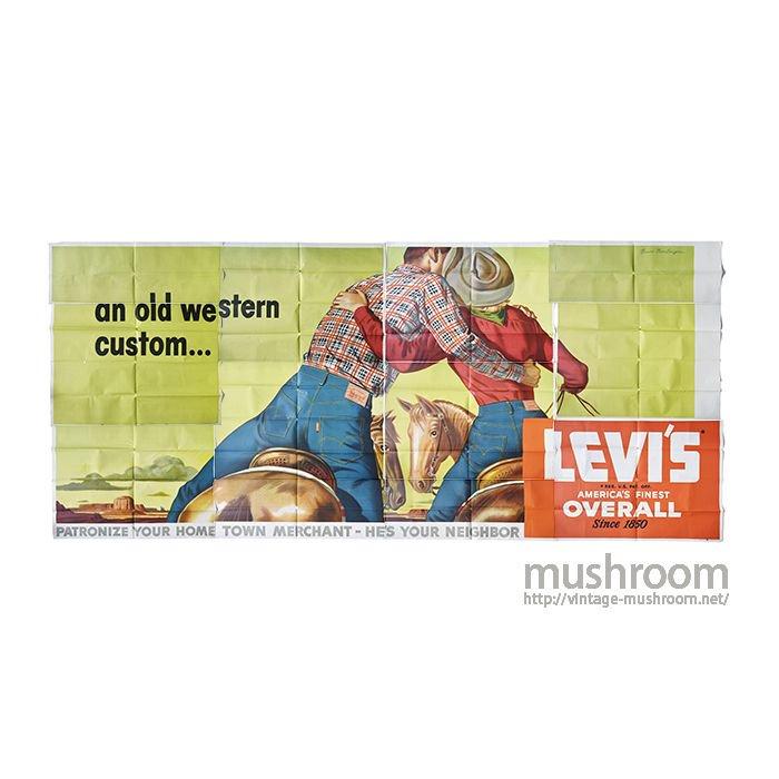 LEVI'S ADVERTISING HUGE SIZE PAPER BANNER