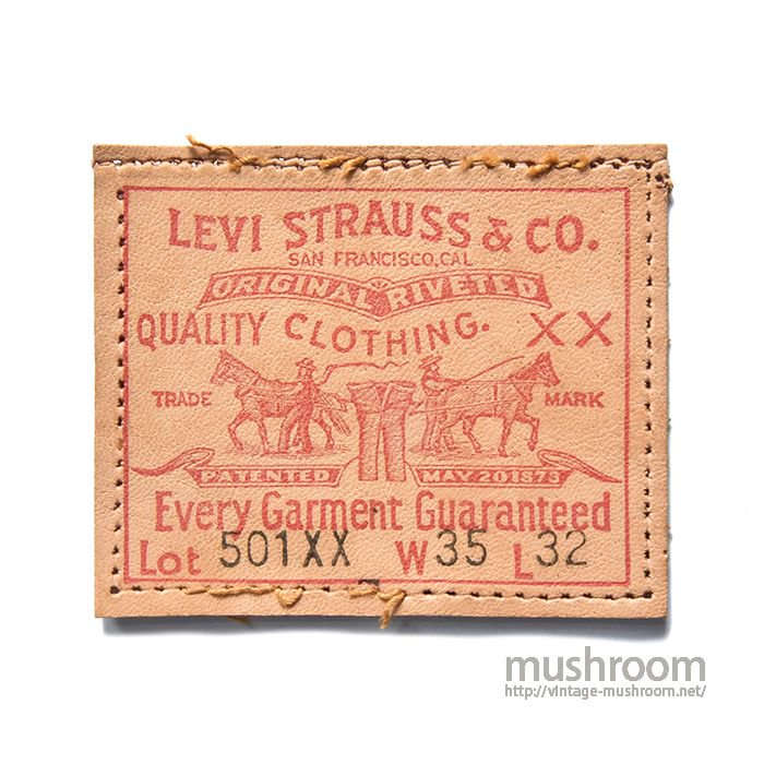 AROUND1950's LEVI'S 501XX LEATHER PATCH