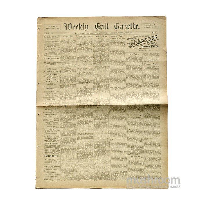 1893's LEVI'S ADVERTISING