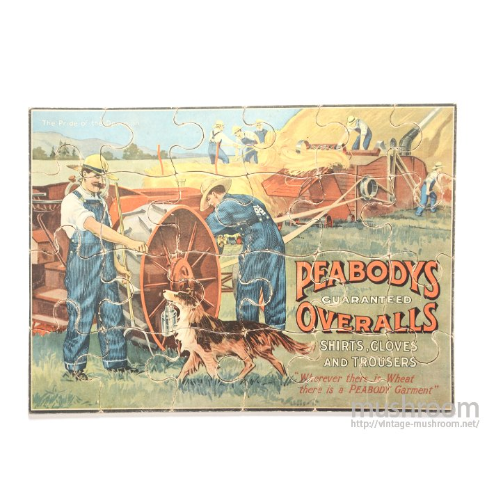 PEABODYS OVERALLS ADVERTISING PUZZLE