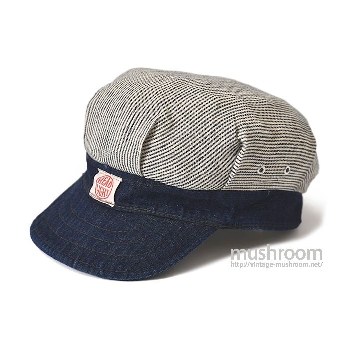 HEAD LIGHT DENIM AND STRIPE ENGINEER CAP